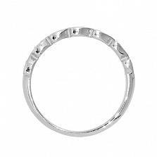 Серебряное кольцо Тришна с бриллиантами