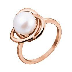 Кольцо из красного золота с жемчугом 000133169