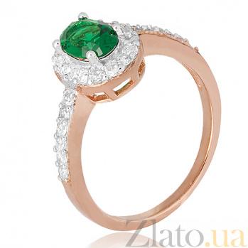 Кольцо из серебра Тауриэль с зеленым фианитом 000028431