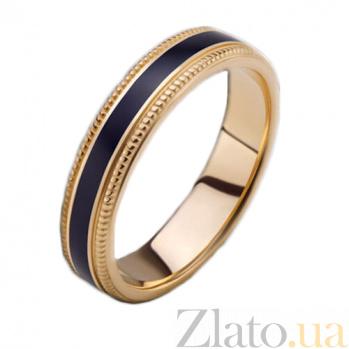 Мужское золотое обручальное кольцо Ночь жаркого лета с эмалью PRT--WRST024