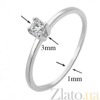 Золотое кольцо с бриллиантом в белом цвете Ноэмия R 0128/бел