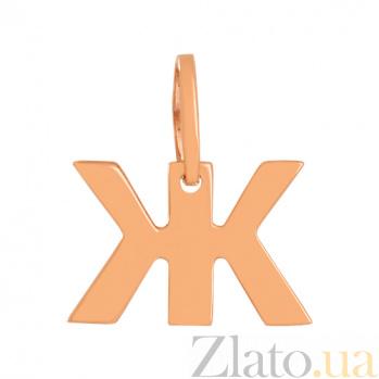 Золотая подвеска Буква Ж VLN--314-1734