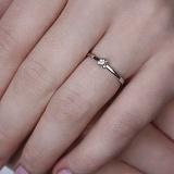 Кольцо в белом золоте Лючия с бриллиантом