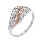 Кольцо из серебра с золотом и фианитами Злата