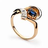 Золотое кольцо с сапфирами и бриллиантами Мириам
