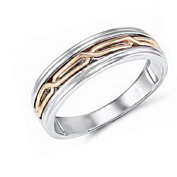 Обручальное кольцо Филомена из красного и белого золота