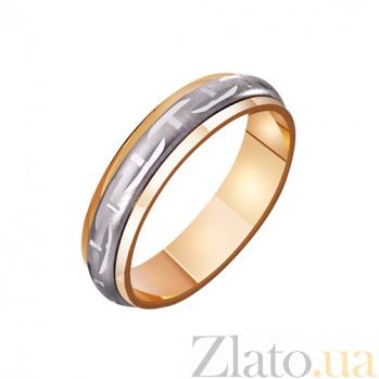 Золотое обручальное кольцо Жизнь прекрасна TRF--421115