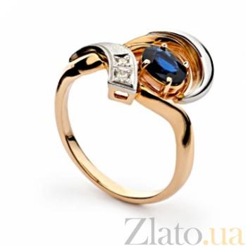 Золотое кольцо с сапфирами и бриллиантами Мириам 000030299