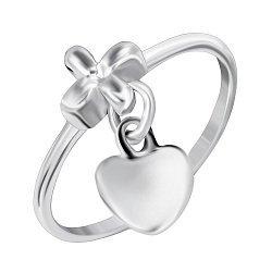 Серебряное кольцо Дар сердца 000045376