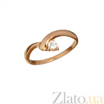 Золотое кольцо с цирконием Виталина PTL--1к124/01