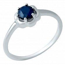 Серебряное кольцо Ненси с сапфиром