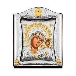 Икона Казанская Божия Матерь с серебрением и позолотой 000139760