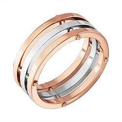 Золотое обручальное кольцо в комбинированном цвете 000129413
