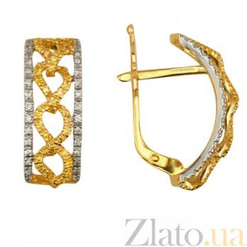 Золотые серьги с фианитами Фернанда VLT--ТТТ2231-1