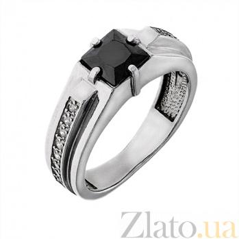 Серебряное кольцо с фианитами Черный принц AUR--71513ч