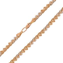 Золотая цепь в комбинированном цвете 000137691