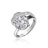 Серебряное кольцо с фианитами Опра