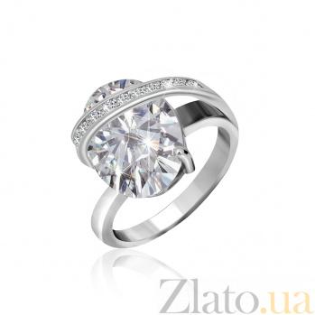 Серебряное кольцо с фианитами Опра 000025525