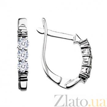 Золотые серьги с бриллиантами Сабина KBL--С2149/бел/брил