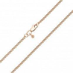 Цепочка из красного золота панцирного плетения с родированной алмазной гранью 000101569, 2мм