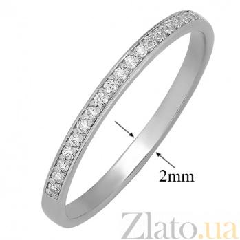 Серебряное фаланговое кольцо Рассвет с белыми фианитами 000032420