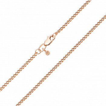 Ланцюжок із червоного золота панцирного плетіння з алмазною гранню 000101569, 2мм