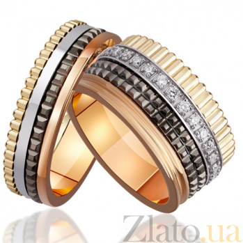Обручальное золотое кольцо Венеция с бриллиантами AUR--ОБ0042