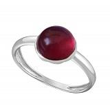 Кольцо в белом золоте Виктория с рубином