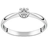 Помолвочное кольцо из белого золота Королевский цветок с бриллиантом 2,5мм
