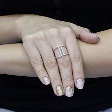 Серебряное кольцо Сафо с фианитами