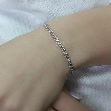 Серебряный браслет Фиорентина,3 мм
