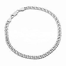 Серебряный браслет Блюз с родием, 3,5 мм