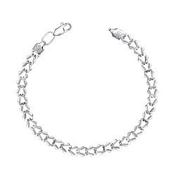 Серебряный браслет фантазийного плетения 000123668