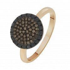 Кольцо в красном золоте Катрин с бриллиантами