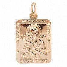 Золотая ладанка Владимирская Богородица