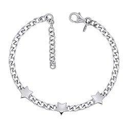 Браслет из серебра со звездочками 000146681