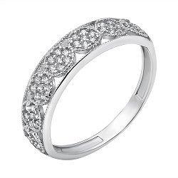 Серебряное кольцо с кристаллами циркония 000118655