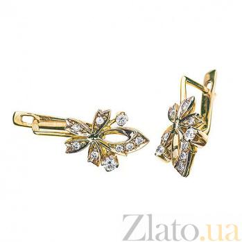 Серьги с бриллиантами Флора E540 с
