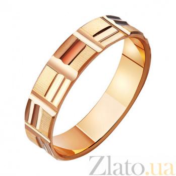 Золотое обручальное кольцо Вместе на всю жизнь TRF--411054