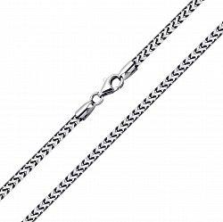 Серебряная цепь объемного квадратного фантазийного плетения 000135807