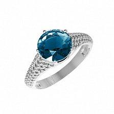 Серебряное кольцо Эмили с лондон кварцем и фианитами