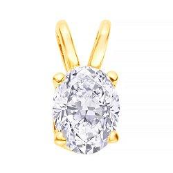 Золотой кулон Жаклин в желтом цвете с бриллиантом в четырех крапанах