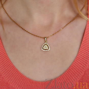 Золотой кулон Баронесса с бриллиантами P0492/жёл