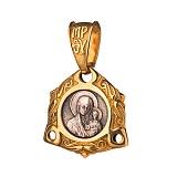 Серебряная ладанка с позолотой и чернением Казанская Божья Матерь