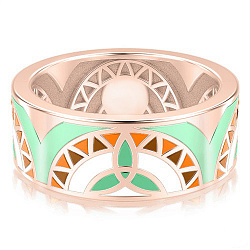 Обручальное кольцо из розового золота Талисман: Жизни 000009261