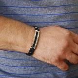 Каучуковый браслет с золотыми вставками Престиж