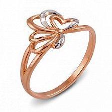 Кольцо из красного золота Стефани