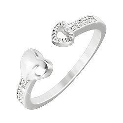 Серебряное кольцо Притяжение с фианитами  000033854