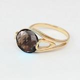 Кольцо из красного золота с раухтопазом Надира
