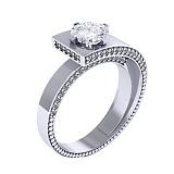 Золотое помолвочное кольцо Верона с бриллиантами